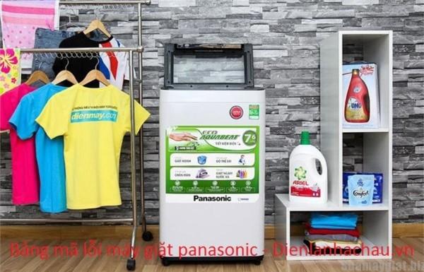 Tổng hợp mã lỗi máy giặt panasonic