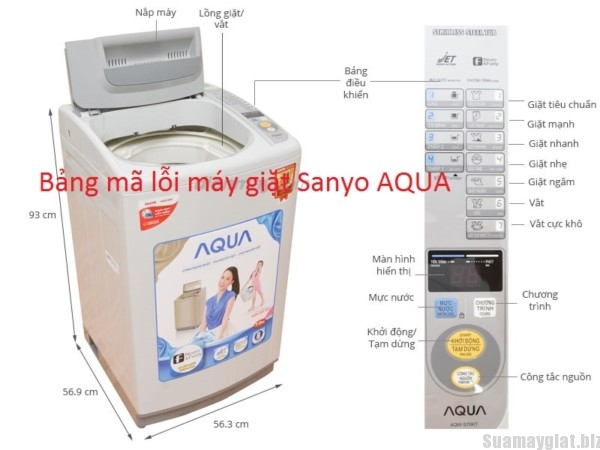 bang ma loi may giat sanyo aqua